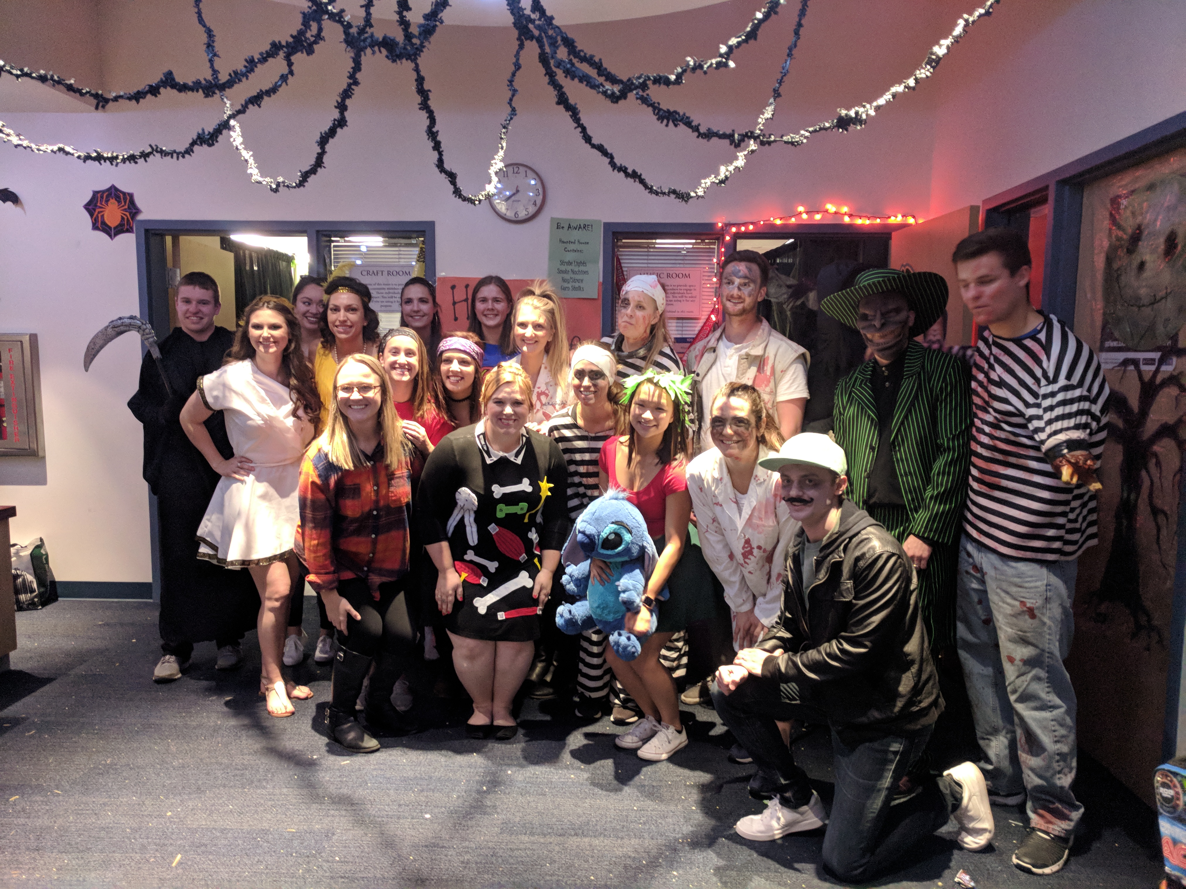 Students on the Downers Grove Campus participate in the annual Halloween Fest.